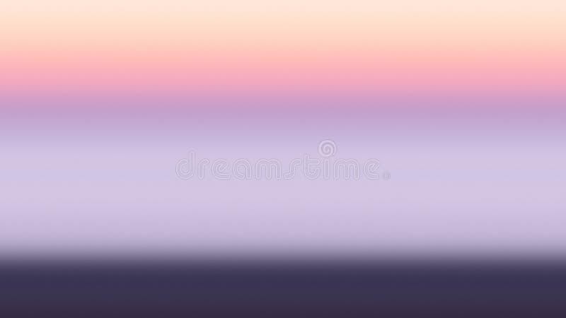 Tło gradientowego zmierzchu błękitna pomarańcze, półmrok ilustracja wektor