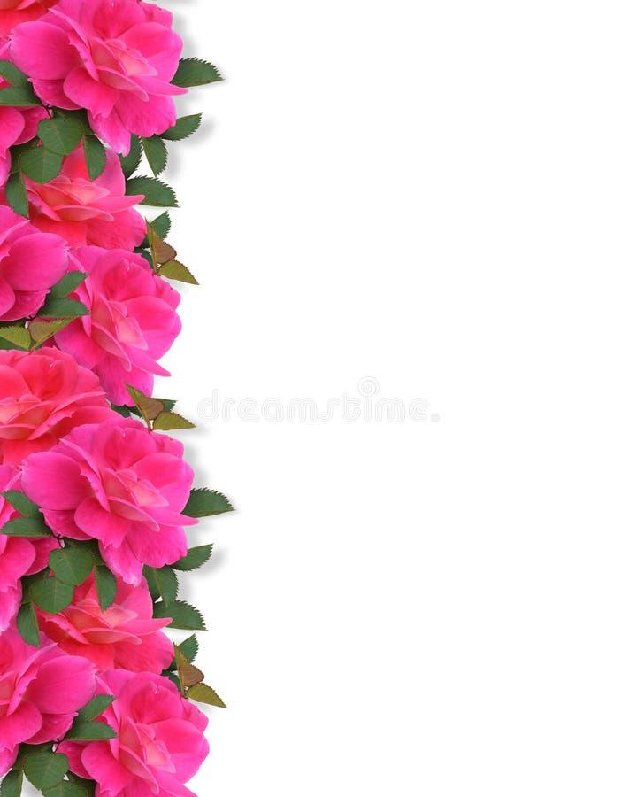 tło granicy menchii róże ilustracji