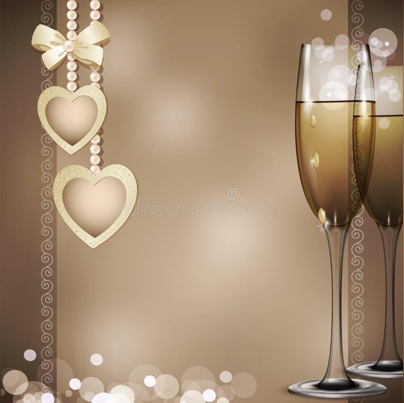 tło gratulacyjni romantyczni dwa royalty ilustracja