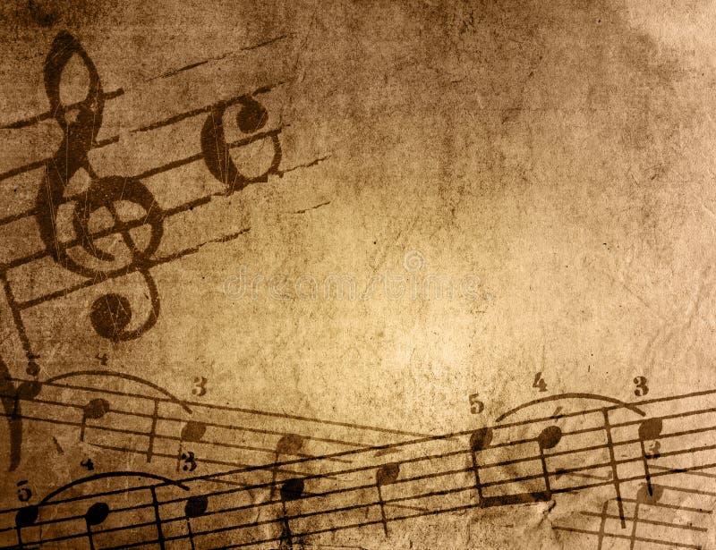 tło grunge melodii tekstury royalty ilustracja