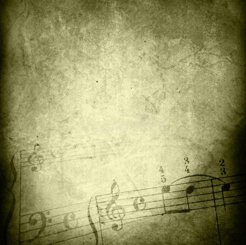 tło grunge melodii tekstury ilustracji