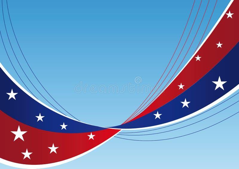 tło gwiazd patriotyczni lampasy ilustracja wektor