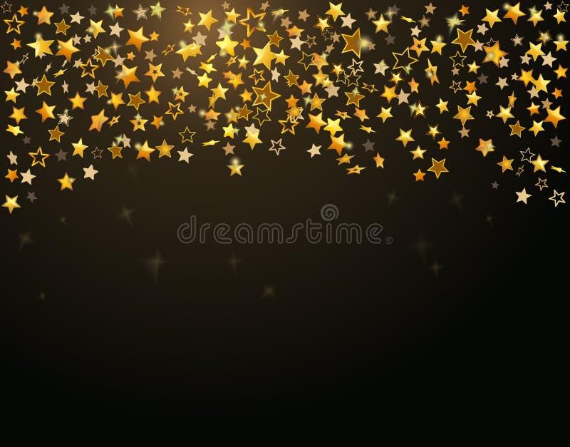 tło gwiazdy złociste wakacyjne royalty ilustracja