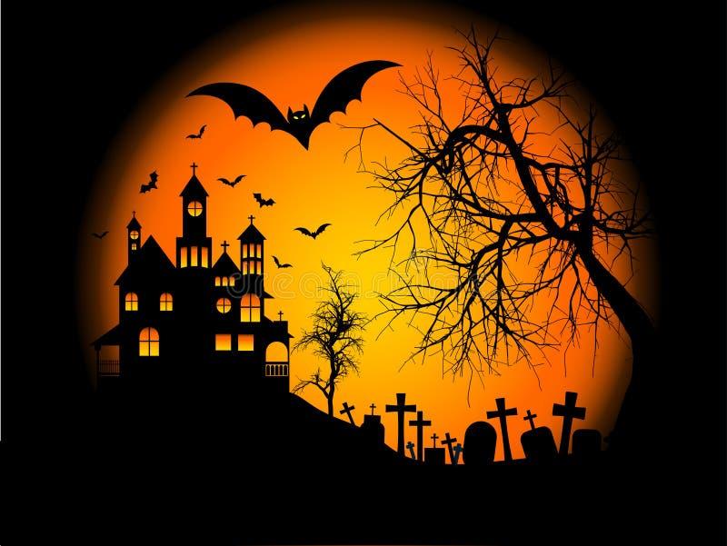 tło Halloween ilustracji
