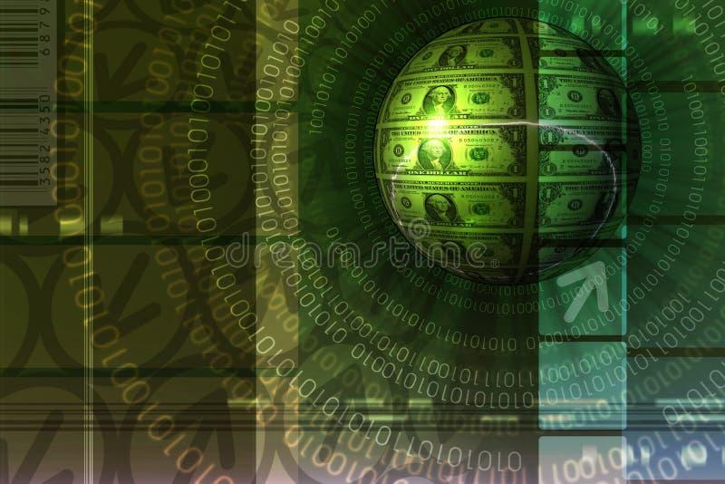 tło handlu e zielone pojęcia ilustracji