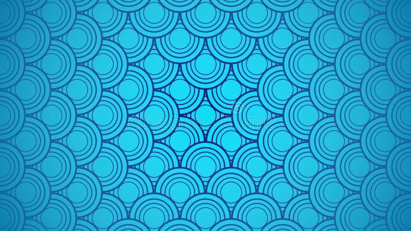 Tło i tapeta błękitnej japońskiej fali oceanicznej zdjęcia royalty free