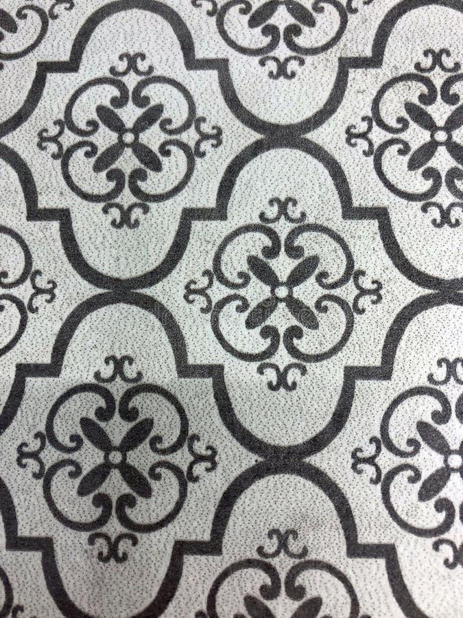 Tło i tekstura z Antycznym płytka wzorem obraz royalty free