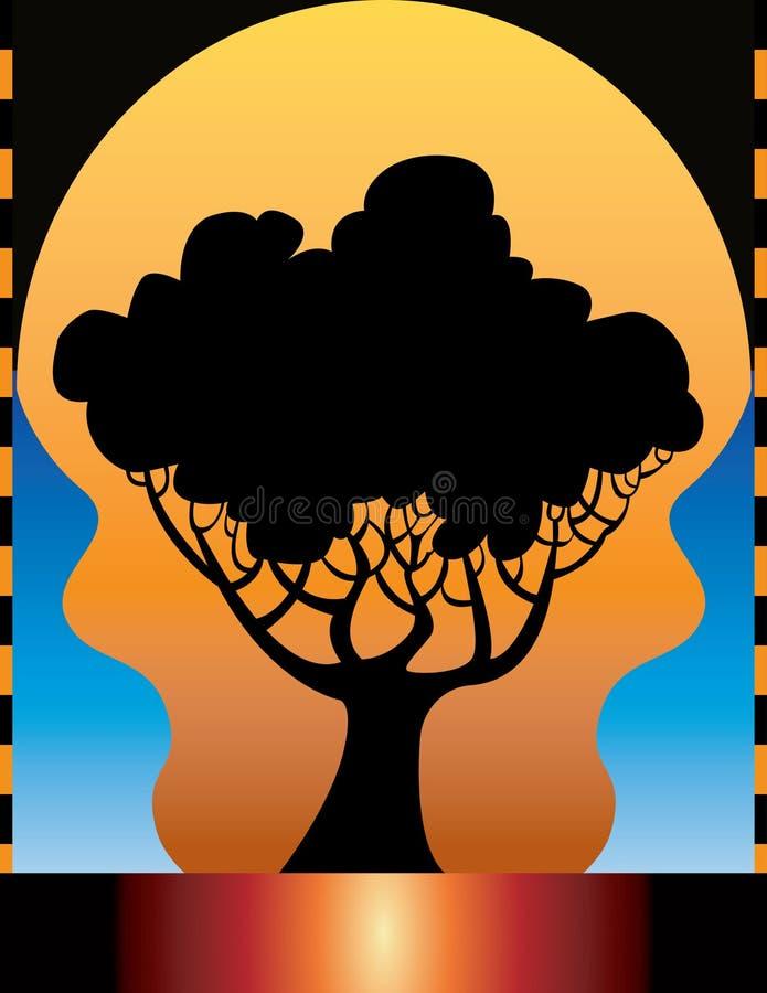 tło ilustracji drzewo royalty ilustracja