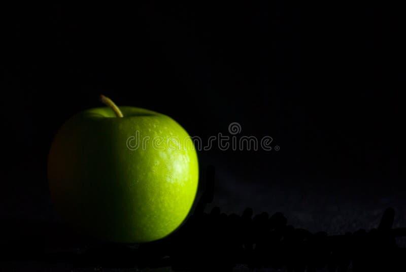 tło jabłczana zieleń zdjęcie stock