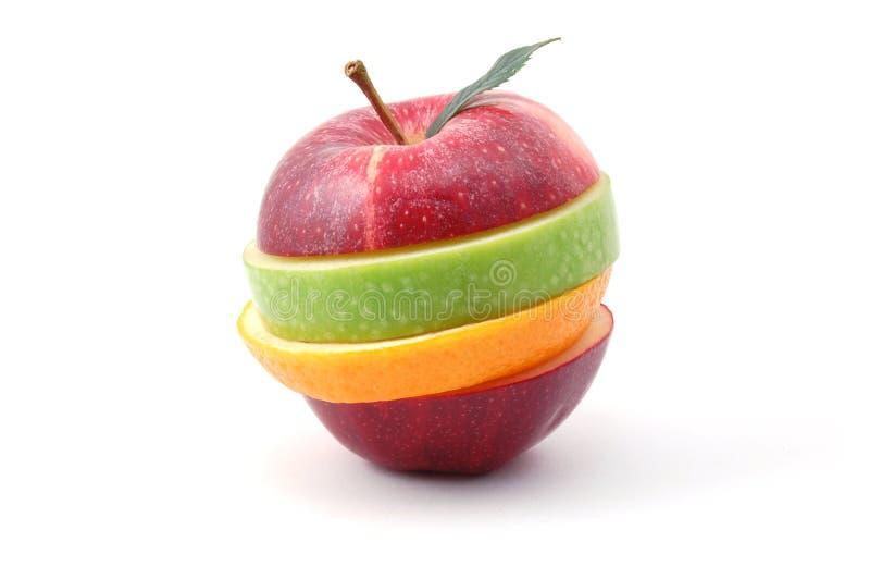 tło jabłczany biel fotografia stock