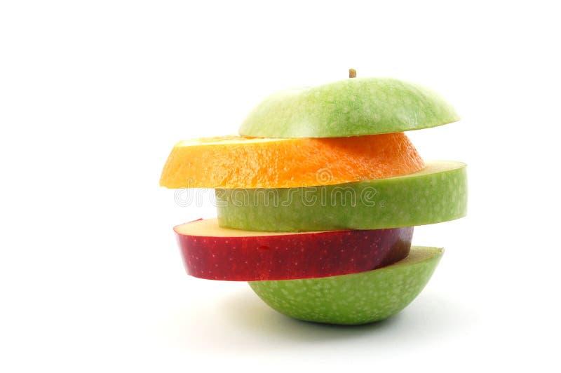 tło jabłczany biel obrazy stock