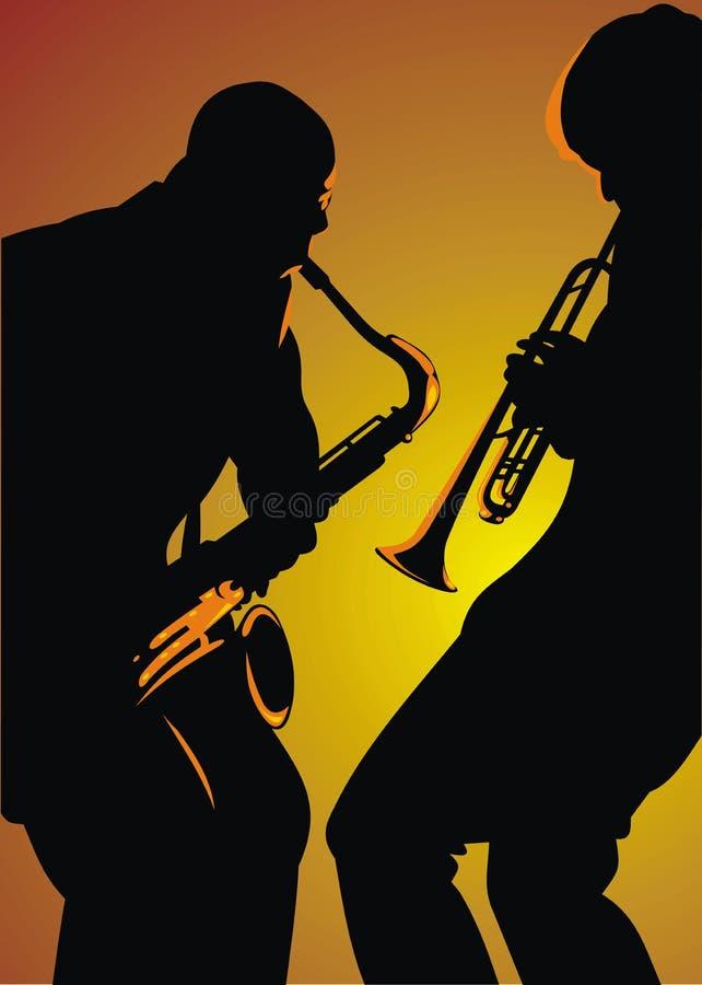 tło jazz royalty ilustracja
