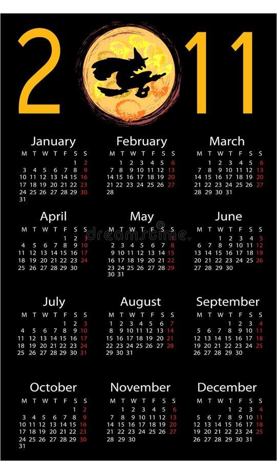 tło kalendarzowy Halloween royalty ilustracja