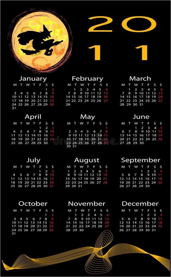 tło kalendarzowy Halloween ilustracja wektor