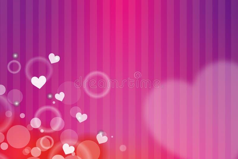 tło karty serca różowy kwieciste korony ilustracja wektor