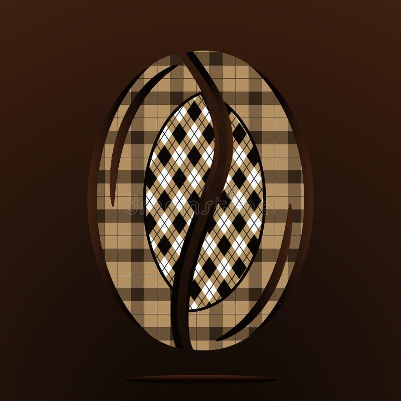 Tło kawowa fasola wektor royalty ilustracja