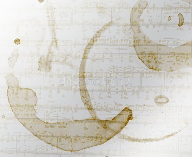tło kawowa muzyka plamiąca ilustracji