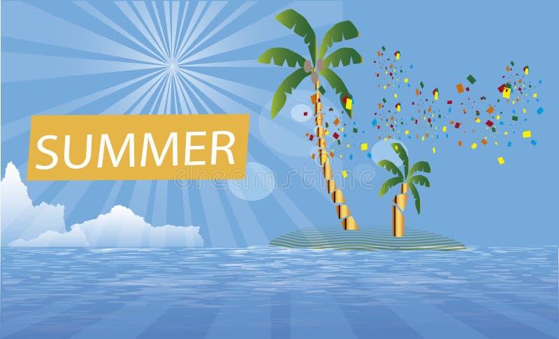 Tło kipieli sommer przyjęcia wyspa ilustracji