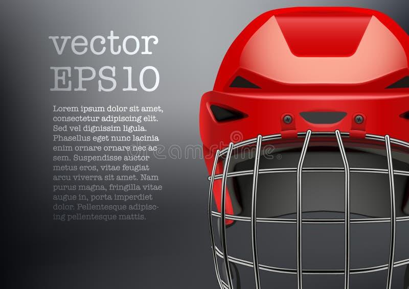 Tło Klasyczny czerwony Lodowego hokeja bramkarz ilustracja wektor