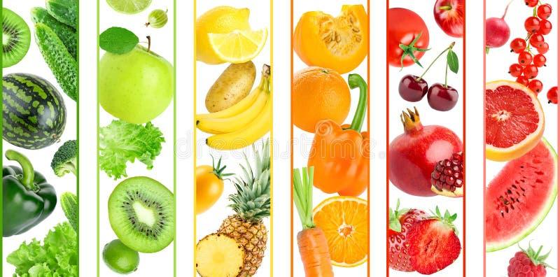 Tło kolorów owoc i warzywo royalty ilustracja