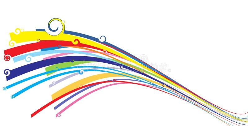 tło kolorowa fala ilustracja wektor