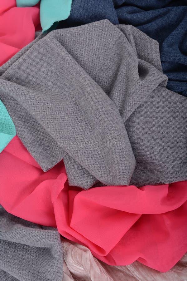 Tło kolorowa kawałek tkanina Uprawa ręczna praca obrazy stock