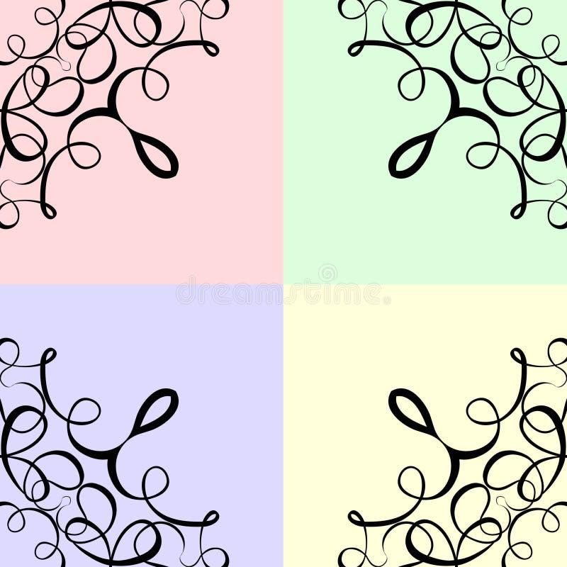 tło kolorowa ramowej zwoju ilustracja wektor