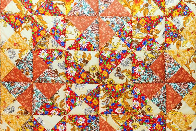 Tło kolorowe patchwork tkaniny zdjęcia stock