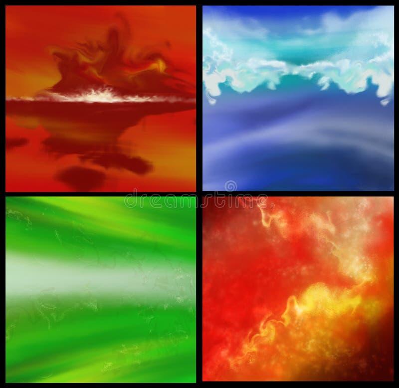 Tło kolorowi cztery ilustracji