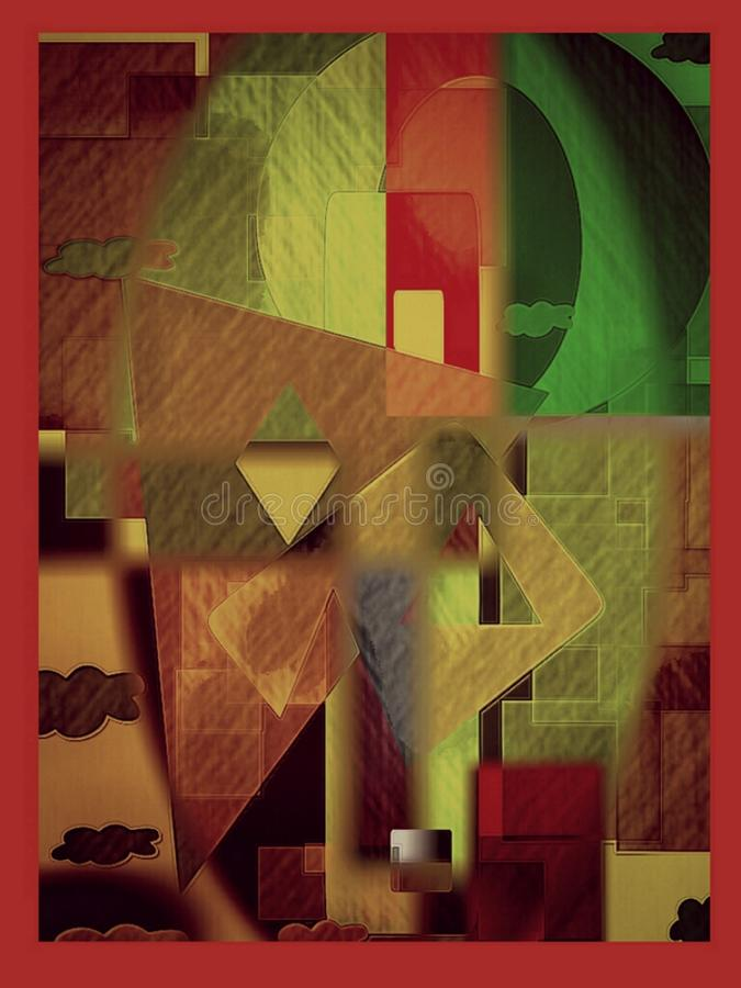 Tło, kolorowy, sztuka, dekoracja ilustracji