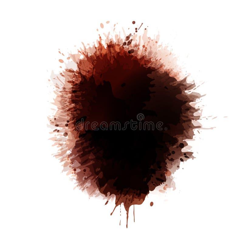 Tło koloru brown punkty plamy kawy royalty ilustracja