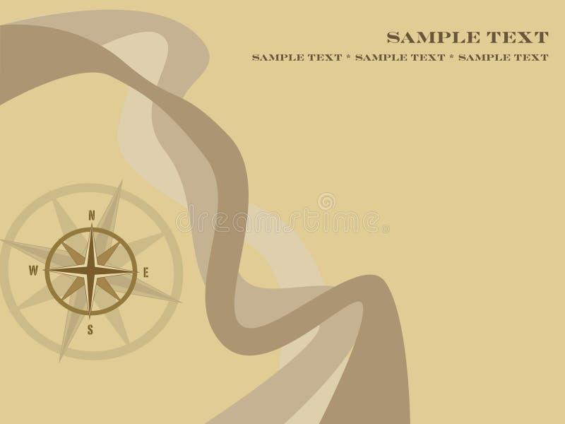 tło kompas. royalty ilustracja