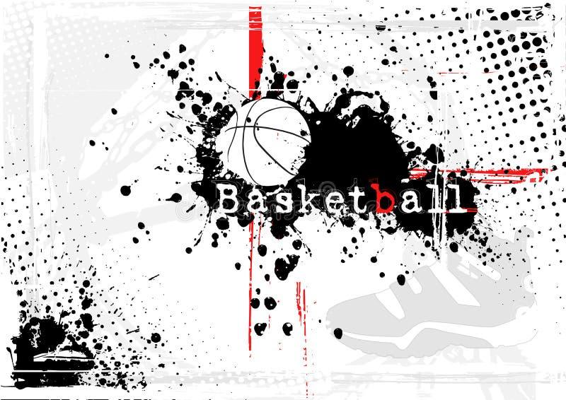 tło koszykówka ilustracji