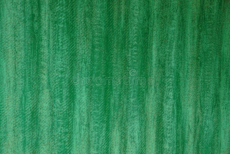 Tło kraciasta stara zieleni żelaza ściana intymny budynek obraz stock