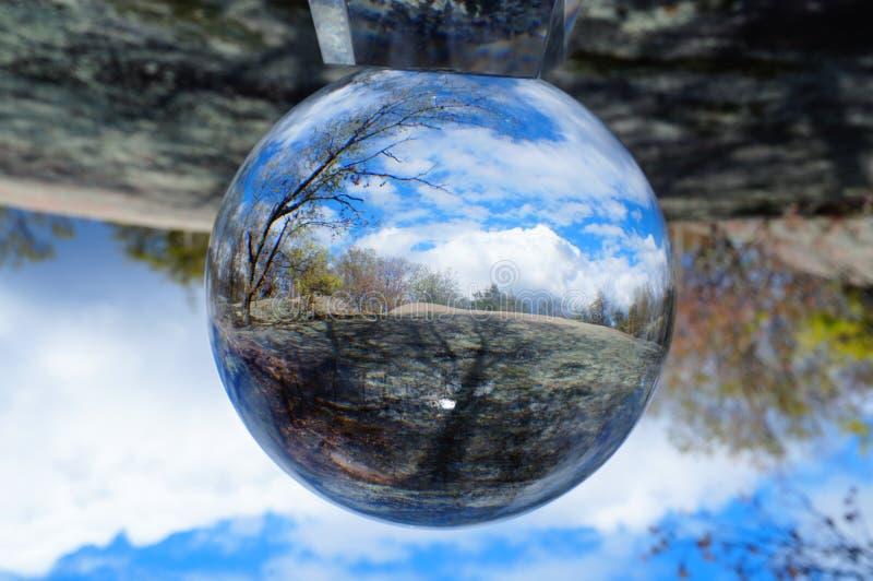 Tło kryształowej kuli abstrakcjonistyczna fotografia obrazy stock