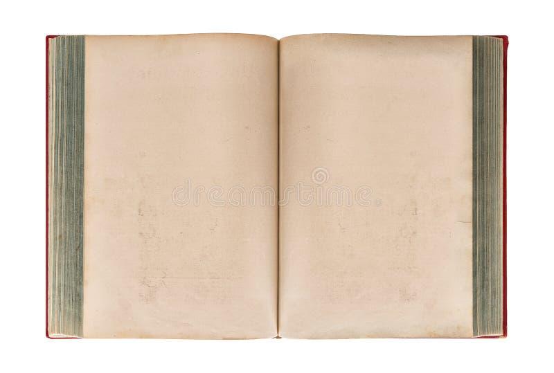 tło książki pojedynczy stary otwarte white papierowa grungy konsystencja obrazy stock