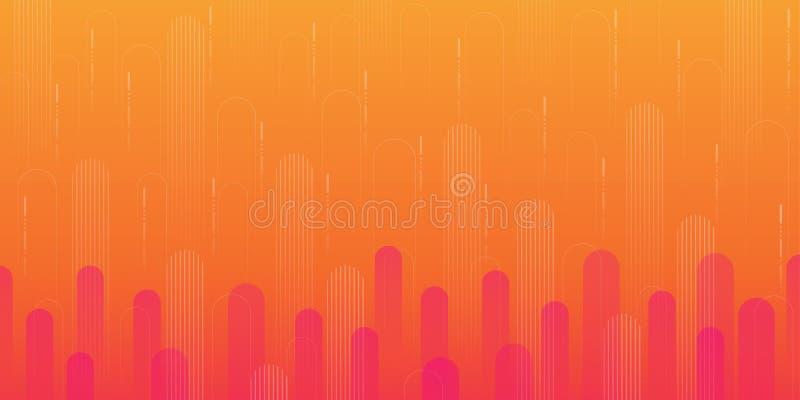 Tło kształtu geometrycznego gradientu pomarańczowego obraz stock