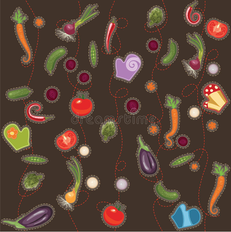 tło kuchnia royalty ilustracja