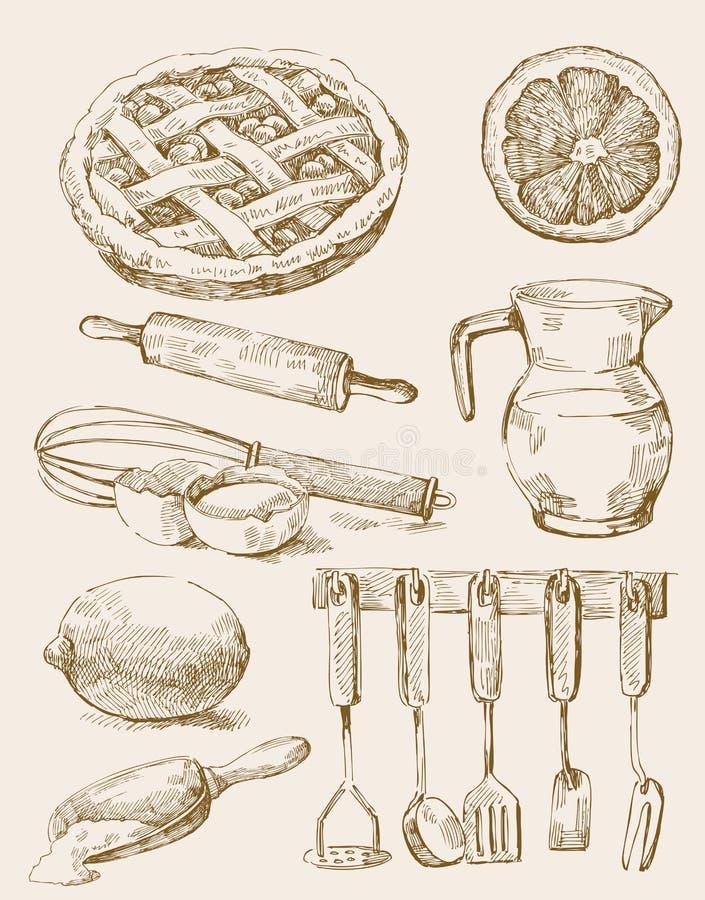 tło kuchnia ilustracja wektor