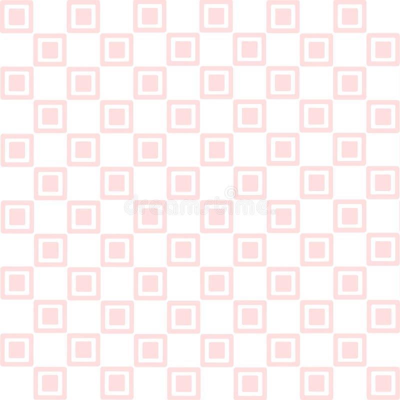 tło kwadrat różowy bezszwowy royalty ilustracja