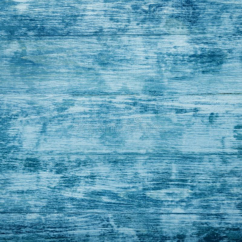 Tło, kwadrat stary lazurowy drewno Odgórny widok Przestrzeń dla teksta zdjęcie stock