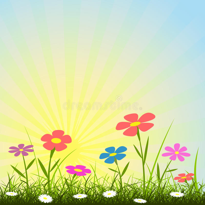 tło kwiat royalty ilustracja