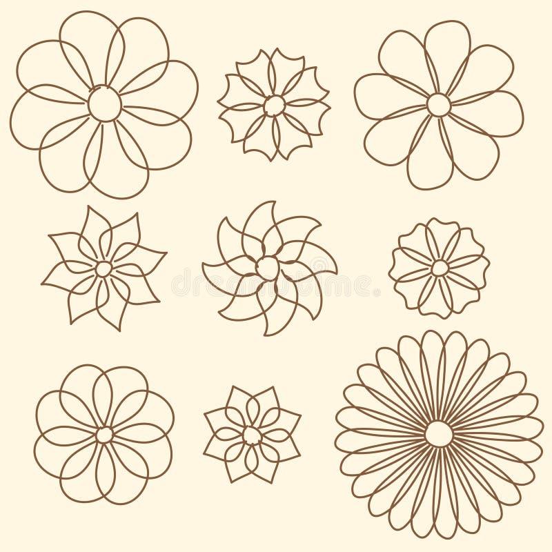 tło kwiat kwitnie rocznika obraz royalty free