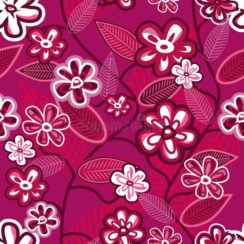 tło kwiaty royalty ilustracja