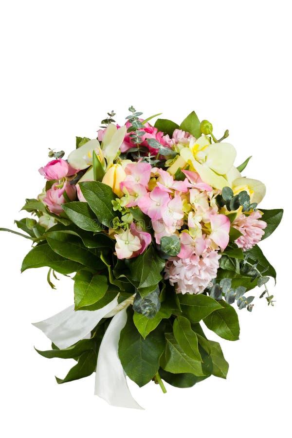tło kwiaty odizolowywali biel obraz royalty free
