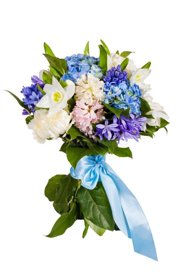 tło kwiaty odizolowywali biel zdjęcia royalty free