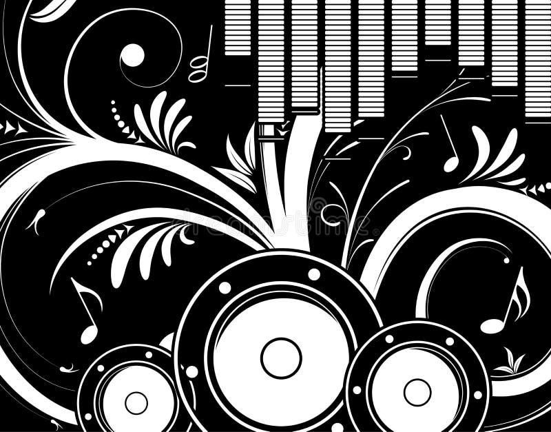 tło kwiecista muzyki ilustracji