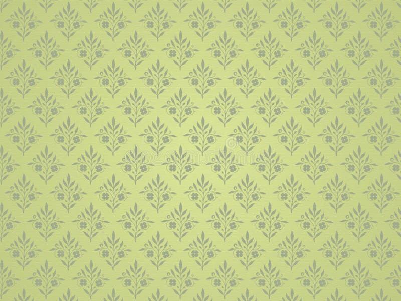 tło kwiecista zieleń royalty ilustracja
