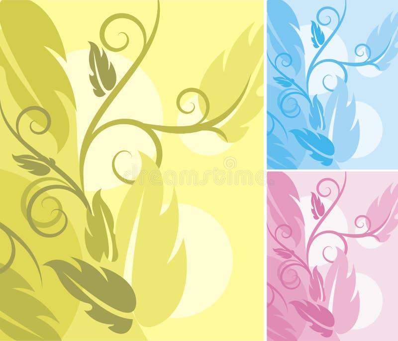 tło kwieciste serii ilustracji