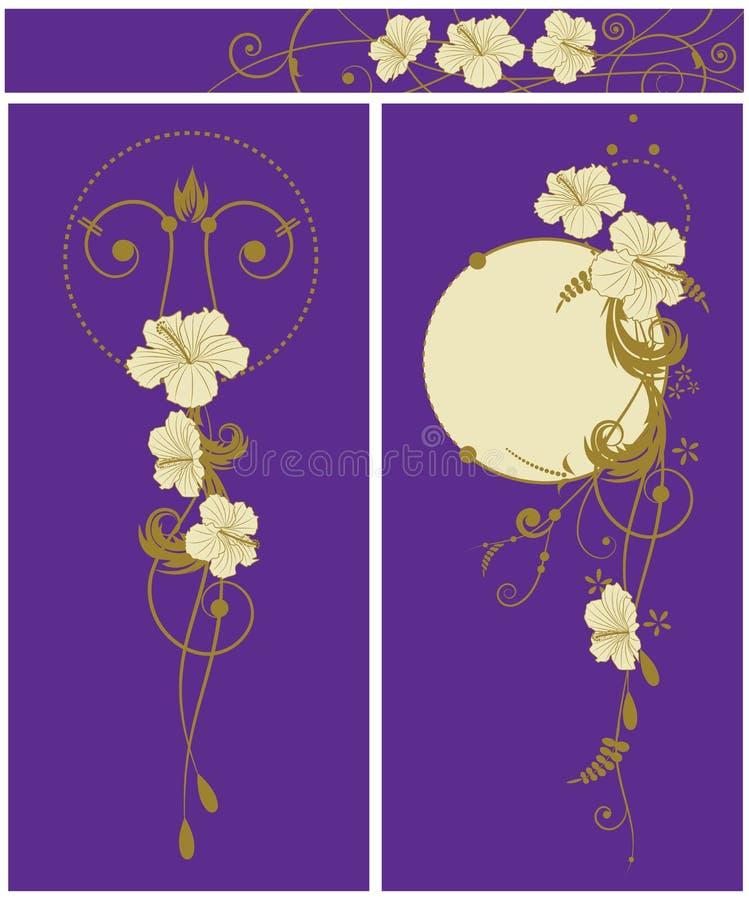 tło kwiecisty poślubnika set ilustracji